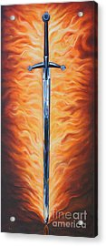 The Sword Of The Spirit Acrylic Print by Ilse Kleyn