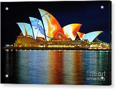 The Sydney Opera House In Vivid Colour Acrylic Print