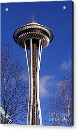 Acrylic Print featuring the photograph The Symbol Of Seattle by Kathy  White