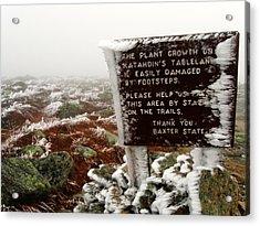 Acrylic Print featuring the photograph The Tablelands - Mt. Katahdin by Doug McPherson