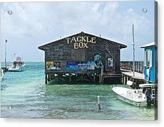 The Tackle Box Sign Acrylic Print by Kristina Deane