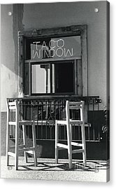 The Taco Window Acrylic Print