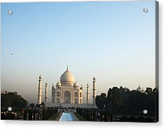 The Taj. Early Morning Acrylic Print by Rajiv Chopra