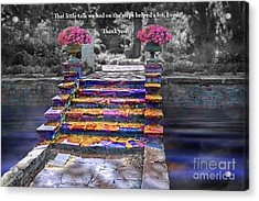 The Talk Version One Acrylic Print