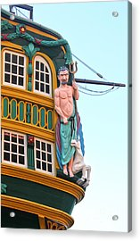 The Tall Clipper Ship Stad Amsterdam - Sailing Ship  - 01 Acrylic Print by Gregory Dyer