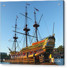 The Tall Clipper Ship Stad Amsterdam - Sailing Ship  - 04 Acrylic Print by Gregory Dyer