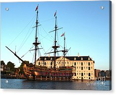 The Tall Clipper Ship Stad Amsterdam - Sailing Ship  - 05 Acrylic Print by Gregory Dyer