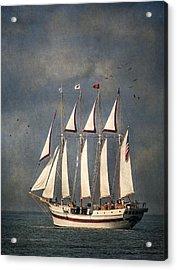 The Tall Ship Windy Acrylic Print by Dale Kincaid