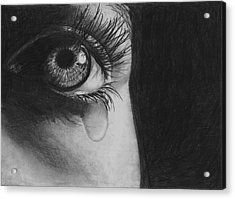 The Tear 2 Acrylic Print by Andrew Dyson