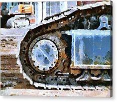 The Tears Of My Tracks Acrylic Print by Steve Taylor