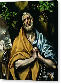 The Tears Of St Peter Acrylic Print by El Greco Domenico Theotocopuli