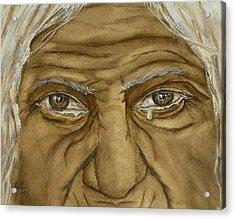 The Tears Of Wisdom Acrylic Print by Kelly Mills