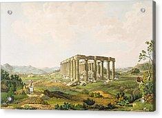 The Temple Of Apollo Epicurius, Plate Acrylic Print