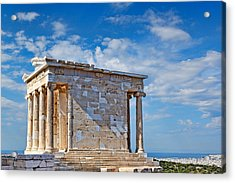 The Temple Of Athena Nike - Greece Acrylic Print by Constantinos Iliopoulos