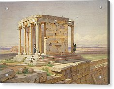 The Temple Of Athena Nike. View From The North-east Acrylic Print by Carl Werner