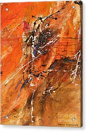 The Temptation -abstract Art Acrylic Print by Ismeta Gruenwald
