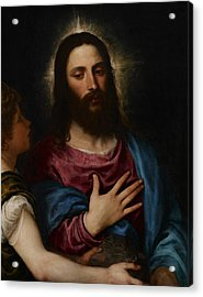 The Temptation Of Christ Acrylic Print by Titian