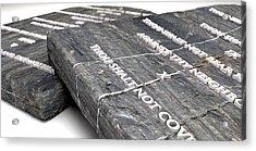 The Ten Commandments Acrylic Print by Allan Swart
