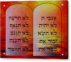 The Ten Commandments - Featured In Comfortable Art Group Acrylic Print by EricaMaxine  Price