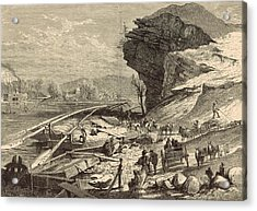 The Tennessee At Chattanooga 1872 Engraving Acrylic Print by Antique Engravings