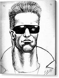 Acrylic Print featuring the painting Arnold Schwarzenegger by Salman Ravish