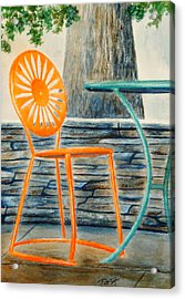 The Terrace Chair Acrylic Print