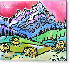 The Tetons From Walton Ranch Acrylic Print by Nicole Gaitan