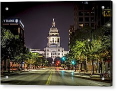 The Texas Capitol Building Acrylic Print by David Morefield