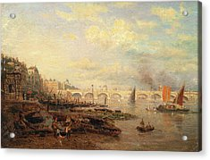 The Thames And Waterloo Bridge From Somerset House Acrylic Print by Litz Collection