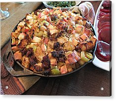 Acrylic Print featuring the photograph The Thanksgiving Stuffing by Scott Kingery