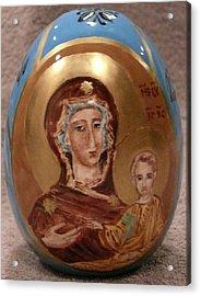 The Theotokos Acrylic Print by Svetlana  Jenkins