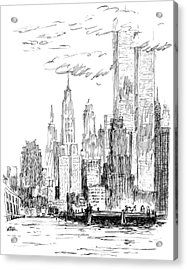 The Thing I Like About New York Acrylic Print by Robert Weber