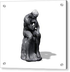 The Thinker Acrylic Print by Juan Gaertner