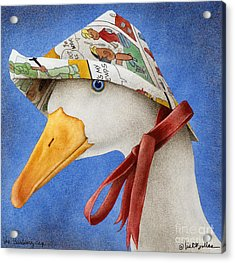 The Thinking Cap... Acrylic Print by Will Bullas