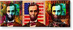 The Three Abes 20140218 Acrylic Print by Wingsdomain Art and Photography