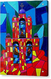 The Three Bells Of San Jose Mission Acrylic Print by Patti Schermerhorn