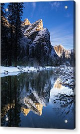 The Three Brothers Above The Merced Acrylic Print