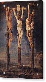 The Three Crosses Acrylic Print by Peter Paul Rubens