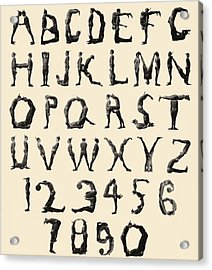 The Three Delevines Satanic Gambols Human Alphabet. The Three Delevines Were An 1897 Music Hall Acrylic Print
