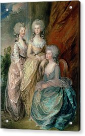 The Three Eldest Daughters Of George Acrylic Print by Thomas Gainsborough