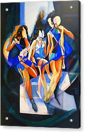 The Three Graces Acrylic Print by Georg Douglas