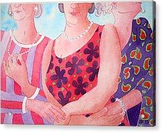 The Three Gracies Acrylic Print by Julie  Hutchinson