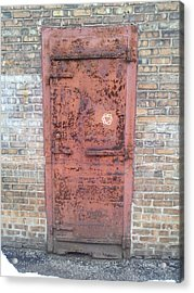 The Three Heart Door. Acrylic Print