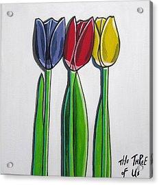The Three Of Us Acrylic Print by Sandra Marie Adams