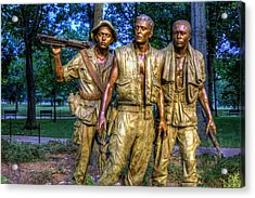 The Three Soldiers Facing The Wall Acrylic Print