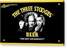 The Three Stooges Beer Acrylic Print by Official Three Stooges
