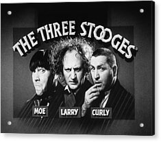 The Three Stooges Opening Credits Acrylic Print by Official Three Stooges