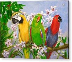 The Three Tenors Acrylic Print by Stella Violano