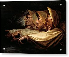 The Three Witches Acrylic Print by Henry Fuseli