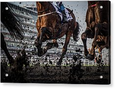 The Thunder Of The Hooves Acrylic Print by Sharon Lee Chapman